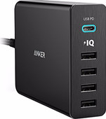Anker PowerPort+5 with 1 USB-C and 4 USB Ports Black 3A-12A