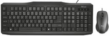 Trust Classicline Wired Keyboard and Mouse QWERTY