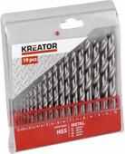 Kreator Metal core set HSS 19-piece 1-10mm
