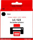Pixeljet LC-123 Zwart voor Brother printers (LC-123BK)