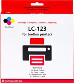 Pixeljet LC-123 4-Kleuren Pack voor Brother printers (LC-123VALBP)