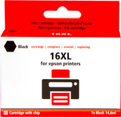 Pixeljet 16 XL Cartridge Black for Epson printers (C13T16314010)