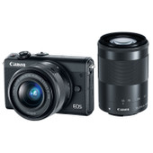 EOS M100 + 15-45 + 55-200mm Zwart