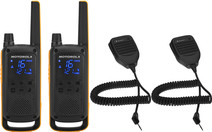 Motorola Talkabout T82 EXTREME Twin Pack + handheld microphone