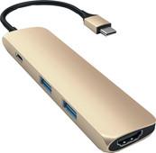 Satechi SLIM TYPE - C Multiport Adapter Gold