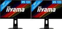 iiyama ProLite XUB2492HSU-B1 Duo set-up