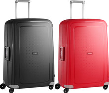 Samsonite S'Cure Spinner 75cm Black + 75cm Crimson Red Suitcase Set
