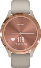 Garmin Vivomove 3S Sport - Rosé Goud/Beige - 39 mm