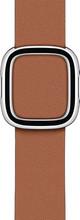 Apple Watch 38/40/41 mm Modern Leren Horlogeband Zadelbruin - Medium