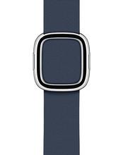 Apple Watch 38/40mm Modern Leather Watch Strap Deep Sea Blue - Small