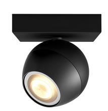 Philips Hue Buckram Mounted Spot White Ambiance 1 Light Black Bluetooth