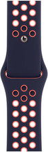 Apple Watch 42/44mm Silicone Watch Strap Nike Sport Blue Black/Bright Mango