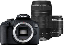 Canon EOS 2000D + EF-S 18-55mm f/3.5-5.6 DC III + EF 75-300mm f/4-5.6 DC III