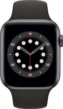 Apple Watch Series 6 44mm Space Gray Aluminum Black Sport Band