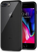 Spigen Ultra Hybrid iPhone 7/8 Plus Back Cover Zwart