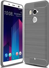 Just in Case Rugged TPU HTC U11 Plus Back Cover Grijs