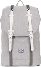 Herschel Retreat Mid-Volume Light Grey Crosshatch/White Rubb
