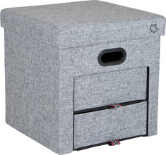 Bo-Camp Urban Outdoor Ottoman Holborn Grijs