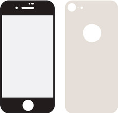 Mobilize iPhone 8 Full body Screenprotector Glas Zilver