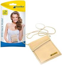 Travel Blue Neck Wallet RFID