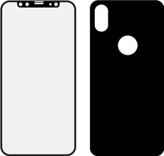Mobilize iPhone X Full body Screenprotector Glas Zwart