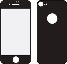 Mobilize iPhone 8 Full body Screenprotector Glas Zwart