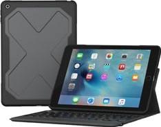 ZAGG Rugged Messenger 7 Col iPad (2017) Toetsenbord Hoes Aze