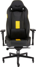 Corsair T2 Road Warrior Gaming Chair Zwart/Geel