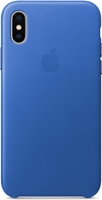 Apple iPhone X Leather Back Cover Electric Blue