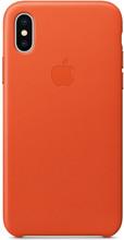 Apple iPhone X Leather Back Cover Feloranje