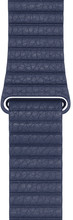 Apple Watch 42mm Lederen Horlogeband Blauw Large