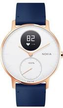 Nokia Steel HR (36mm) Rose Goud Blauw Leer