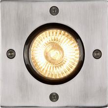 Lucide Biltin Grondspot Zilver 1 Lichtpunt Vierkant