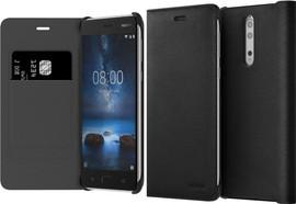 Nokia 8 Flip Book Case Zwart