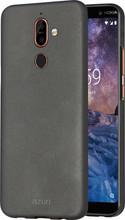 Azuri Metallic Soft Touch Nokia 7 Plus Back Cover Zwart