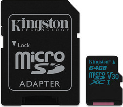 Kingston microSDXC Canvas Go! 64GB 90 MB/s + SD Adapter