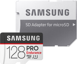 Samsung microSDXC PRO Endurance 128GB 100 MB/s + SD Adapter