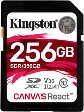 Kingston SDXC Canvas React 256GB 100 MB/s