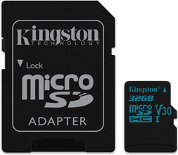 Kingston microSDHC Canvas Go! 32GB 90 MB/s + SD Adapter