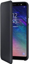 Samsung Galaxy A6 Plus (2018) Wallet Cover Book Case Zwart