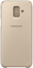 Samsung Galaxy A6 (2018) Wallet Cover Book Case Goud