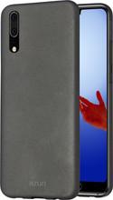 Azuri Metallic Soft Touch Huawei P20 Back Cover Zwart