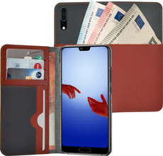 Azuri Full Wallet Huawei P20 Book Case Beige