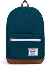 Herschel Pop Quiz Deep Teal/Tan Synthetic Leather