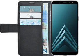 Azuri Wallet Magneet Galaxy A6 (2018) Book Case Zwart