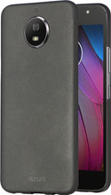 Azuri Metallic Soft Touch Moto G5S Back Cover Zwart