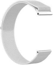 Just in Case Fitbit Versa Milanees Horlogeband Zilver