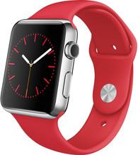 Apple Watch 42mm Siliconen Horlogeband Sport Rood