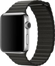 Apple Watch 42mm Lederen Horlogeband Grijs Medium