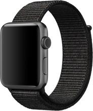 Apple Watch 42mm Nylon Sport Loop Horlogeband Zwart